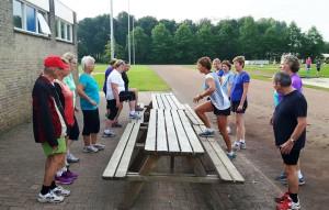 Fysiofitness op de atletiekbaan
