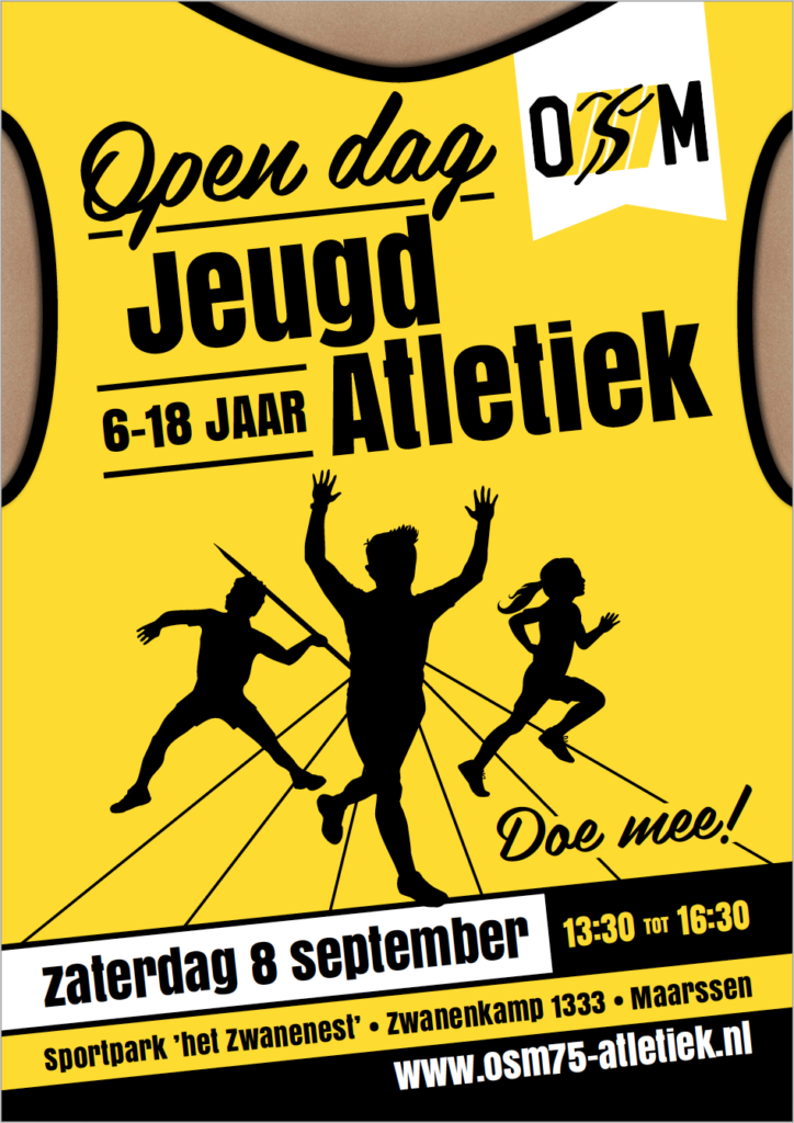 Open dag jeugdatletiek OSM 6-18 jaar